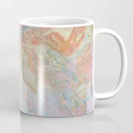 Marble Luxe, Abstract Nature Bohemian Texture, Blush Gold Scandanavian Pastel Neutral Coffee Mug