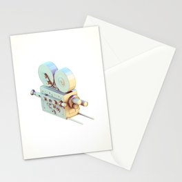 Low Poly Film Camera Stationery Cards