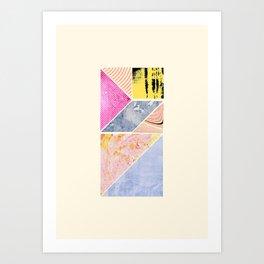 Collaged Tangram Alphabet - I Art Print
