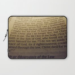 Through the Law. Laptop Sleeve