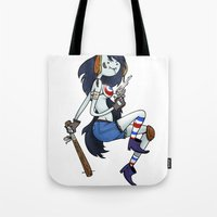 tank girl Tote Bags featuring Marceline Tank Girl by Rewfoe