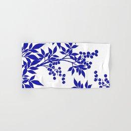 BLUE AND WHITE  TOILE LEAF Hand & Bath Towel