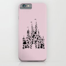 disneyworld castle with characters pink  iPhone 6s Slim Case