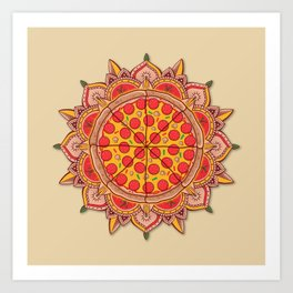 Sacred Pizza Art Print