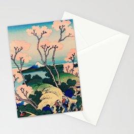Goten-Yama Hill, Shinagawa on the Tokaido by Katsushika Hokusai Stationery Cards