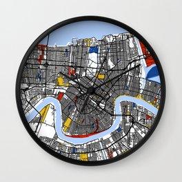 New orleans Mondrian Wall Clock