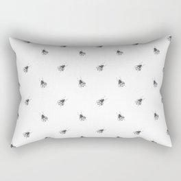 Black and White Bee Pattern Rectangular Pillow