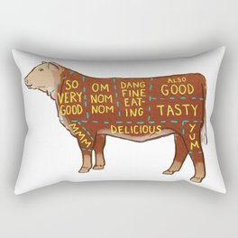 Cow Cuts Rectangular Pillow