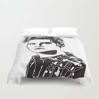 stiles Duvet Covers featuring Stiles Stilinski Teen Wolf Design by ShondraHilliard.com