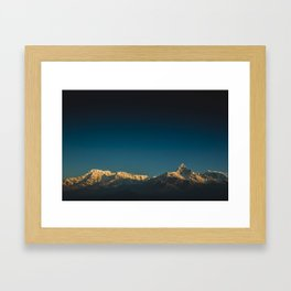 Himalayan sunrise Framed Art Print
