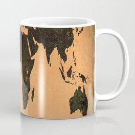 Grungy Abstract World Map Coffee Mug