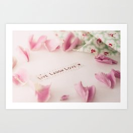 Live Laugh Love Art Print