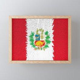 Extruded flag of Peru Framed Mini Art Print