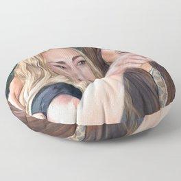 Woman Yelling at Cat Meme-1 Floor Pillow