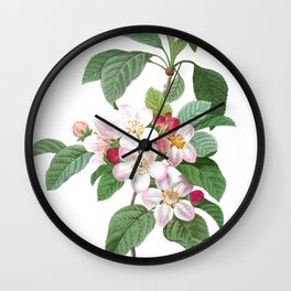 HIGHEST QUALITY botanical poster of Apple tree Wall Clock
