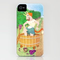 Grape Stomping Unicorn iPhone (4, 4s) Slim Case