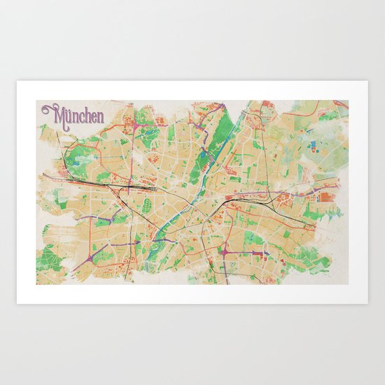 Munich in Watercolor by rouagesdesign