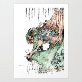 Enkidu Returns to the Earth Art Print
