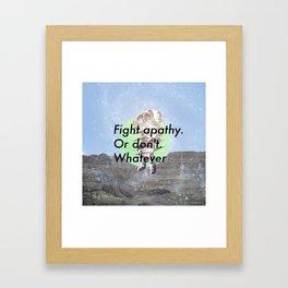 Apathy Framed Art Print
