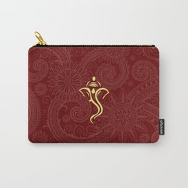 Maroon Ganesha - Hindu Elephant Deity Carry-All Pouch