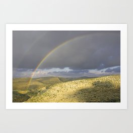 """If you want the RAINBOW you've got to deal with the rain"" Art Print"