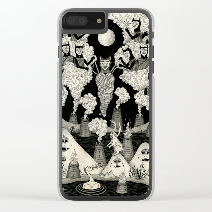 The Mountains Wept For Her Clear iPhone Case