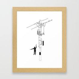 Tokyo Electric Pole Framed Art Print