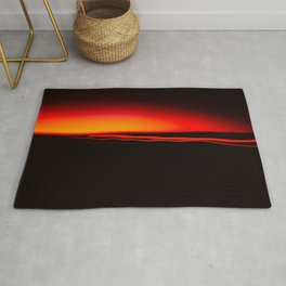 Night Lights Four Red Tail Lights Rug
