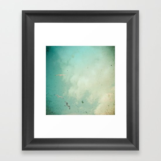 Glide Framed Art Print