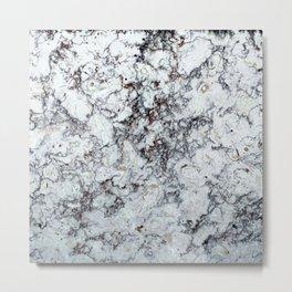 Grey Marble Natural Texture Metal Print
