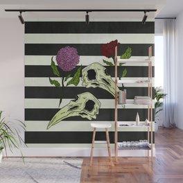 Raven Skull Wall Mural