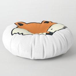 Simple red fox Floor Pillow