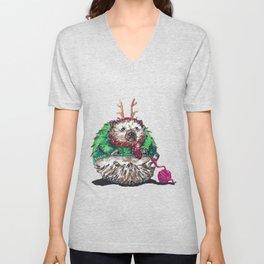 Holiday Sweater Crochet Critter Unisex V-Neck