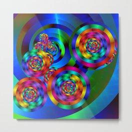 Rainbow Rings Metal Print