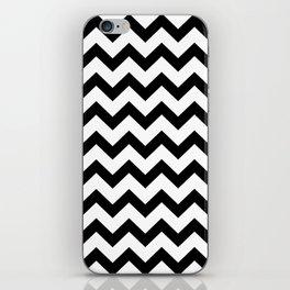 Chevron (Black & White Pattern) iPhone Skin