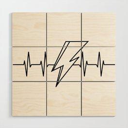 Bowie Heartbeat Wood Wall Art