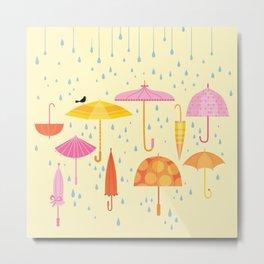 Pretty Parasols for Precipitation Metal Print
