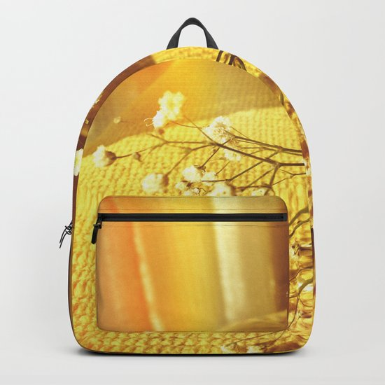 Energy and flowers. Backpack