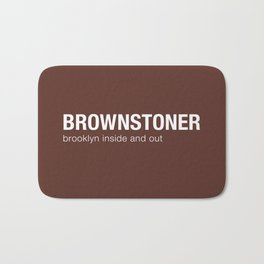 Brownstoner Logo - Dark Bath Mat
