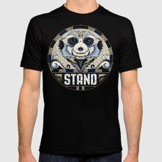 Stand Mens Fitted Tee Black MEDIUM