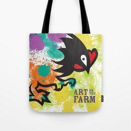 Splatter Art on the Farm Tote Bag