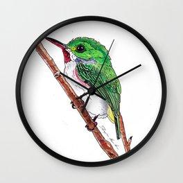 Jamaican Tody Bird Wall Clock