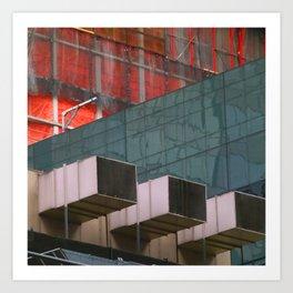 Manhattan Windows - Construction Art Print