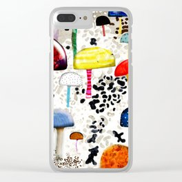 Mein Ein, mein Alles - Mushrooms Abstract Botanical Art - cute animal print - Leopard Muster Clear iPhone Case