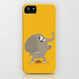 Elephant poop iPhone Case