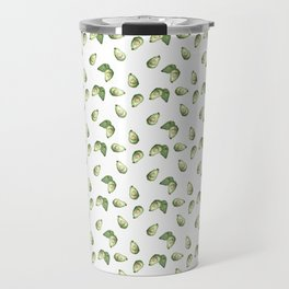 Watercolour Avocado Pattern Travel Mug
