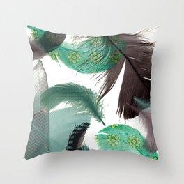 Feathers Art No.2 Throw Pillow