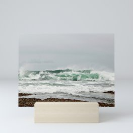 Explosive Green Surf of the St-Lawrence Mini Art Print