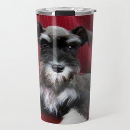 Oreo Schnauzer Puppy Travel Mug