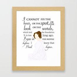 Miss Elizabeth Bennet Framed Art Print